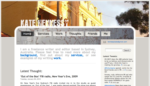 Kate Hennessy's Site