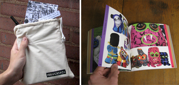 Drawgasmic Book, comes with a little pouch