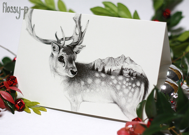 Reindeer Christmas Card, by flossy-p