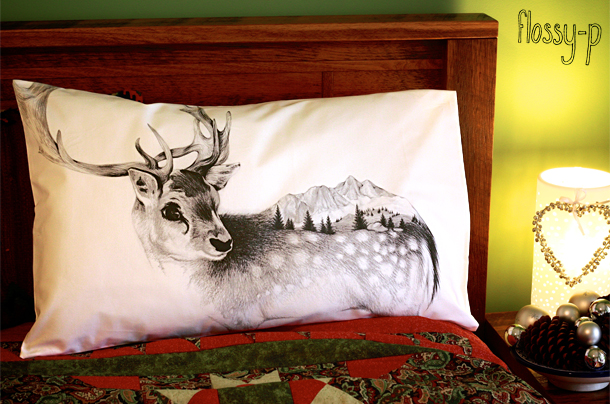 Reindeer Pillowcase, by flossy-p