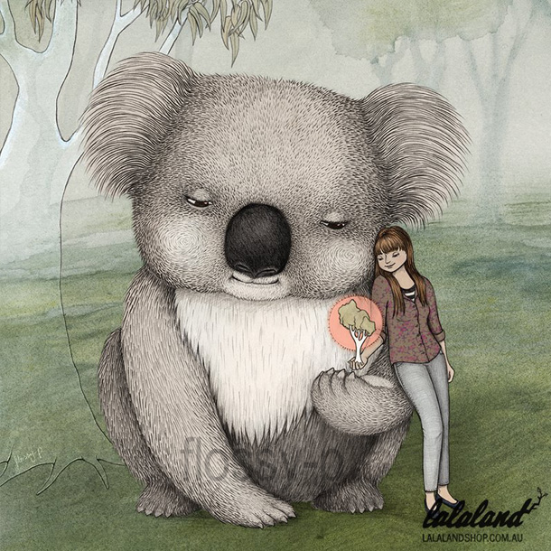 Koala Card by flossy-p, for Lalaland