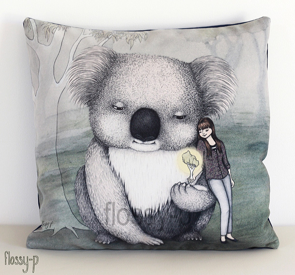 Koala Cushion by flossy-p